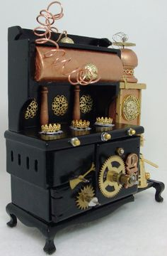 The Incredible Steampunk Stove, Dollhouse Miniature