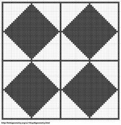 Free Cross Stitch Geometric Pattern 13 by ~carand88 on deviantART