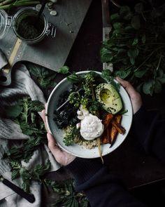 Spring nettle breakfast bowl