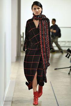 make dress like scarf  , more boat neck . Zero + Maria Cornejo Fall 2018 Ready-to-Wear Collection - Vogue