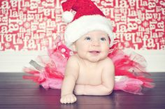 Christmas baby photo session outfit