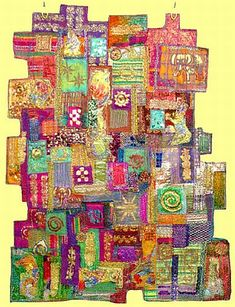 colourful wallhanging by Jill Smith