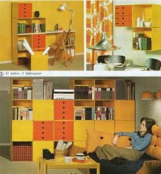 I know, is horrific, hideous, bright brady bunch orange… But I like it! 1973 | The Ikea Catalog Evolution, 1951-2013