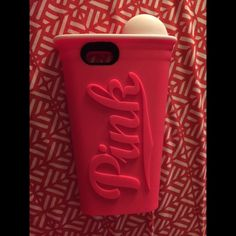 iPhone 6 pink case It's a pretty big case and makes it look like the iPhone 6+ PINK Victoria's Secret Accessories Phone Cases
