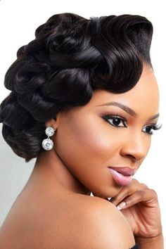 Hair Stlyes 2018 Updo Wedding Hairstyles For Black Women – Updo Cuts It is not a difficult task to pick the suitable black women wedding hairstyles.We are offering some interesting wedding hairstyles that looks great. 2018 Updo Wedding Hairstyles For Bl Retro Wedding Hair, Short Wedding Hair, Wedding Hair And Makeup, Bridal Hair, Trendy Wedding, Wedding Black, Wedding Beauty, Bridal Tips, Wedding Nails