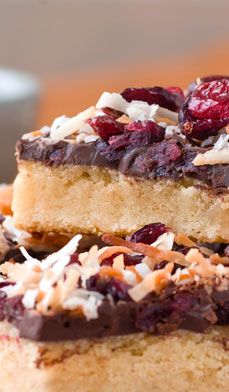 Get creative with this Chocolate Coconut Cookie Bar recipe: replace the chocolate and coconut with nuts or dried fruits (or your sweetheart's favorite ingredient for Valentine's Day). #recipes #desserts