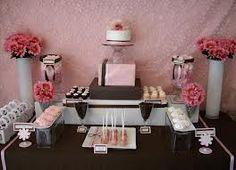 chá de bebe marrom e rosa - Pesquisa Google