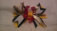 Pittsburg Steelers Inspired Spike Hair Bow by AmalieBowtique, $6.99