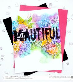 VIDEO: Hello Beautiful! Rainbow Watercolor with Kelly