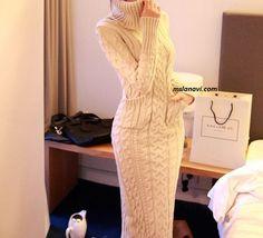Длинное платье спицами с косами http://mslanavi.com/2015/11/dlinnoe-plate-spicami-s-kosami/