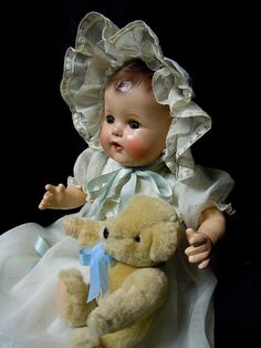 Vintage composition Ideal Baby Doll - 1930's - 40's,  Restored - So Precious