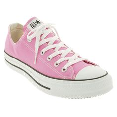 Converse Chuck Taylor Low Sneaker ($50) ❤ liked on Polyvore featuring shoes, sneakers, converse, 18. converse., pink, pink sneakers, converse shoes, low top shoes, pink shoes and laced sneakers
