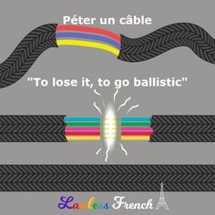 The next time someone loses it in front of you, think of this à propos #French expression. #learnfrench #lawlessfrench French Expressions, Idiomatic Expressions, French People, Teacher Boards, French Teacher, Learn French, French Language, Vocabulary, Culture