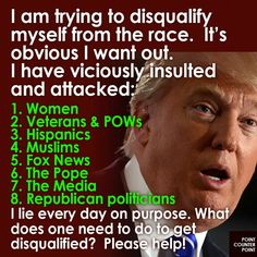This guy is disgusting and insane. #YouAreWhatYouVoteFor #FuckTrump #ClintonKaineForAmerica