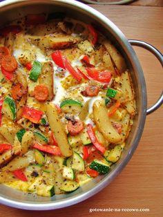 Warzywna fritata  www.gotowanie-na-rozowo.com