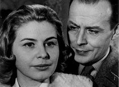 """Maj-Britt Nilsson och Hasse Ekman (1915-2004) i """"Jazzgossen"""". Maj-Britt Nilsson var en dramatenskådespelare som var populär under 40- och 50-talen. Hasse Ekman hade bara ett fåtal samarbeten med Bergman, men var även han en lovande regissör."""