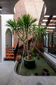 Image 33 of 33 from gallery of PH House / Mét Vuong Studio. Architecture Durable, Tropical Architecture, Sustainable Architecture, Residential Architecture, Architecture Design, Building Architecture, House With Land, Casa Patio, Internal Courtyard