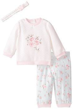 Little Me Baby Girls' 2 Piece Quilted Legging Set,Mint Months: Rose quilt pant set. Outfits Niños, Cute Baby Girl Outfits, Toddler Outfits, Kids Outfits, Baby Sister, My Baby Girl, Baby Girl Newborn, Baby Girls, Lace Bridal