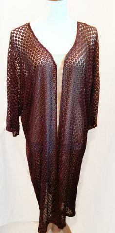 Brown Kimono Cardigan, Kimono Jacket Black Brown, Long Knit ...