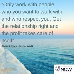 When you run your firm, you can sometimes focus solely on the profits and products, and neglect the people you work with. A strong team makes a strong business.
