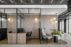RUST Architects has realized the office design for the B. Group, an engineering firm located in Tel Aviv, Israel. Corporate Office Design, Corporate Interiors, Office Interiors, Corporate Offices, Open Office Design, Workspace Design, Office Workspace, Office Interior Design, Office Open Plan