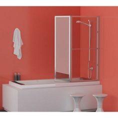 Pare-baignoire 2 volets verre de sécurité 3 mm transparent, Lm 104 | Leroy Merlin