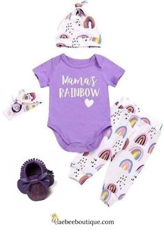 After every storm there comes a rainbow, to signify hope and healing. Rainbow Print, Everything Baby, Cool Baby Stuff, Toddler Outfits, Future Baby, New Moms, Tween, Cool Kids, Little Ones