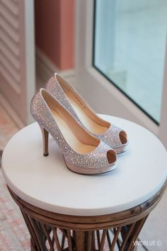 Sparkly silver wedding shoes | Vivid Blue Photography | http://www.southboundbride.com/floral-romance-wedding-at-the-oyster-box-hotel-by-vivid-blue-photography-kerry-marinus