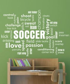 Look what I found on #zulily! White Soccer Cloud Wall Quotes Decal #zulilyfinds