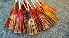 """A """"bray"""" of Broomcorn Johnny's brooms! We love creating with color!! :-) broomcornjohnnys.com"""