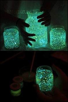 How To Make Glow In The Dark Jar  http://craft.ideas2live4.com/2015/04/27/diy-glow-in-the-dark-jar/  Your kids will surely love this very easy project. A glowing jar would be nice especially once you have turned off their lights for bedtime.  Could this be your next project with the kids?