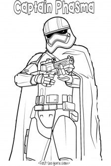 Kleurplaten Star Wars The Force Awakens.Printable Star Wars The Force Awakens Captain Phasma Coloring Pages