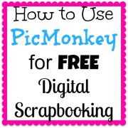 PicMonkey is an awesome tool to use to create free digital scrapbook pages! In this post, we focus on adding text and how to overlap images in PicMonkey