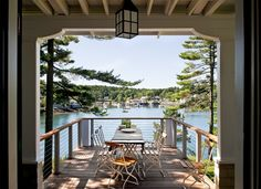Restored 1912 Lake Cottage with Beadboard Walls and Gorgeous Lake Views  from Between Naps on the Porch blog  -  Pinned 7-7-2016.