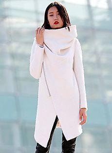 Готовая выкройка пальто с высоким воротом   Выкройки онлайн и уроки моделирования