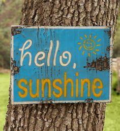 Hello Sunshine Sign | Metal Wall Art