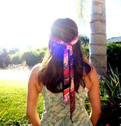 Gypsy Head Band Womens Scarf Big Bow Tie Bohemian Headband Head Scarf  Hippie Teen Hair Accessory by Freckles California 28