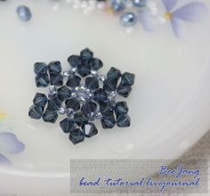 Stitch up some Crystal Snowflake Charms for earrings, a bracelet, or a pendant!