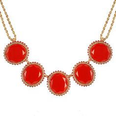 Red Bubble Bib Necklace Statement Jewelry Chunky Necklace (Fn0675-Red) (Red) Jane Stone,http://www.amazon.com/dp/B00CFXTDQM/ref=cm_sw_r_pi_dp_jRalsb1R0HX84740