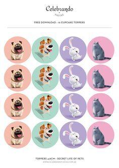 La vida secreta de tus mascotas (Secret life of Pets) - gel abrigo - La vida secreta de tus mascotas (Secret life of Pets) party_la_vida_secreta_de_tus_mascotas_secret_life_of_pets_toppers - 2 Birthday, Puppy Birthday, Animal Birthday, Pet 1, Pet Dogs, Pets Movie, Easy Pets, Unusual Animals, Unusual Pets