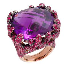 Lydia Courteille ring / Gold, amethyst and rubies