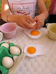 Buy Easter eggs and put the feltvegg inside.@Kelly Teske Goldsworthy Ledford