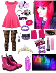 """""""Princess Bubblegum"""" by angel-bunnie ❤ liked on Polyvore"""