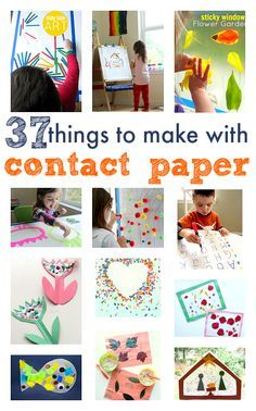 37 Things To Make With Contact Paper Huge list of contact paper crafts and activities for preschoolers. Sticky walls, wipe off activities, and beautiful art projects that use contact paper. Craft Activities For Kids, Toddler Activities, Projects For Kids, Preschool Activities, Craft Projects, Craft Ideas, Therapy Activities, Toddler Art, Toddler Crafts