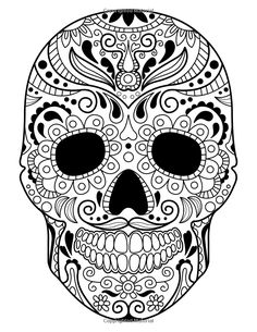 Sugar Skulls - Day of the Dead: A Stress Management Coloring Book For Adults: Penny Farthing Graphics: 9781517680442: Amazon.com: Books