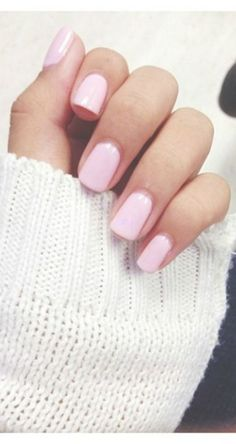 Pretty dusty pink nails to cheer up any day.