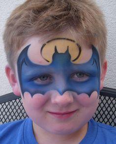 (İndirin ve yazdırın!) Yüz Boyama Batman