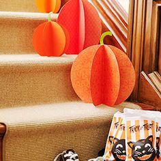 Super Simple Pumpkin Treats and Crafts for Your Home: Pretty Paper Pumpkins (via Parents.com)