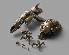 Protoss Renders by /u/Nakmaa Game Concept, Concept Art, Pacific Rim Kaiju, Robot Art, Robots, Alien Spaceship, Starcraft 2, No Man's Sky, Stars Craft