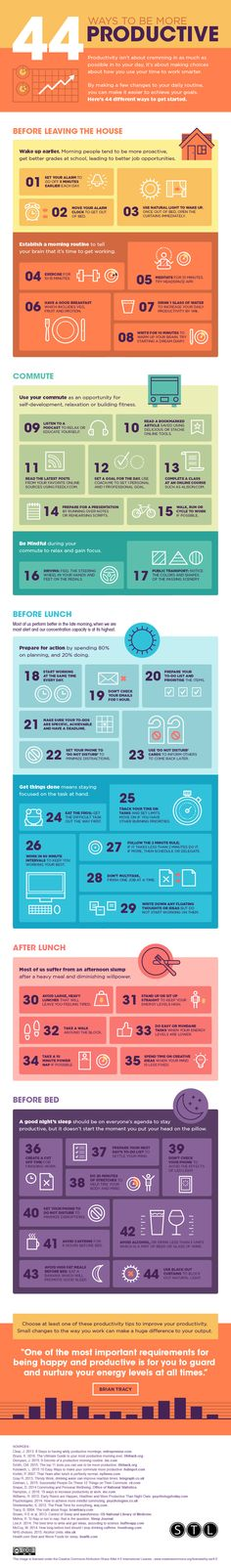 44 ways to be productive